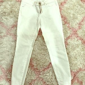 White Ann Taylor ankle jeans
